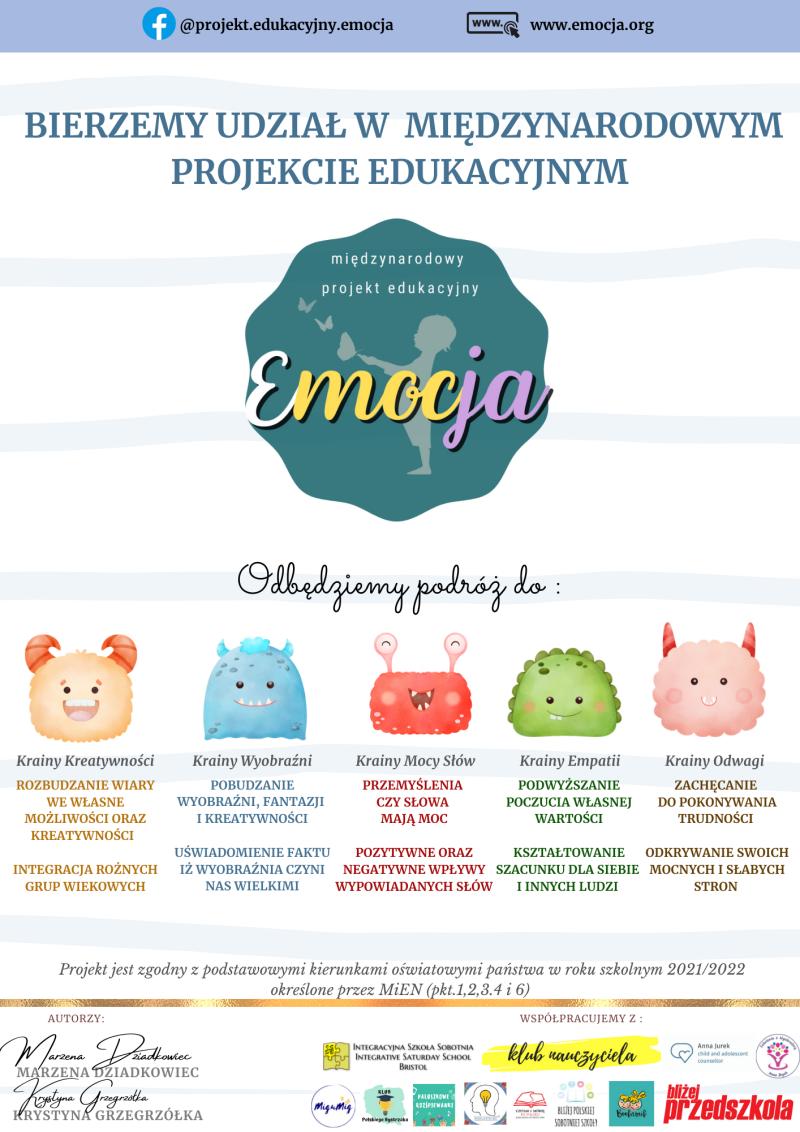 Plakat projektu Emocja