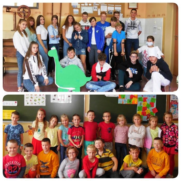 Zdjęcia grupowe klas podczas Europejskiego Dnia Języków
