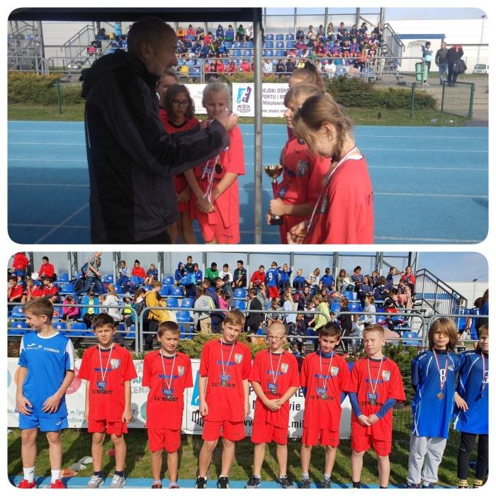 Zdjęcia przedstawicieli naszej szkoły na powiatowych Drużynowych Biegach Przełajowych w Mikołowie