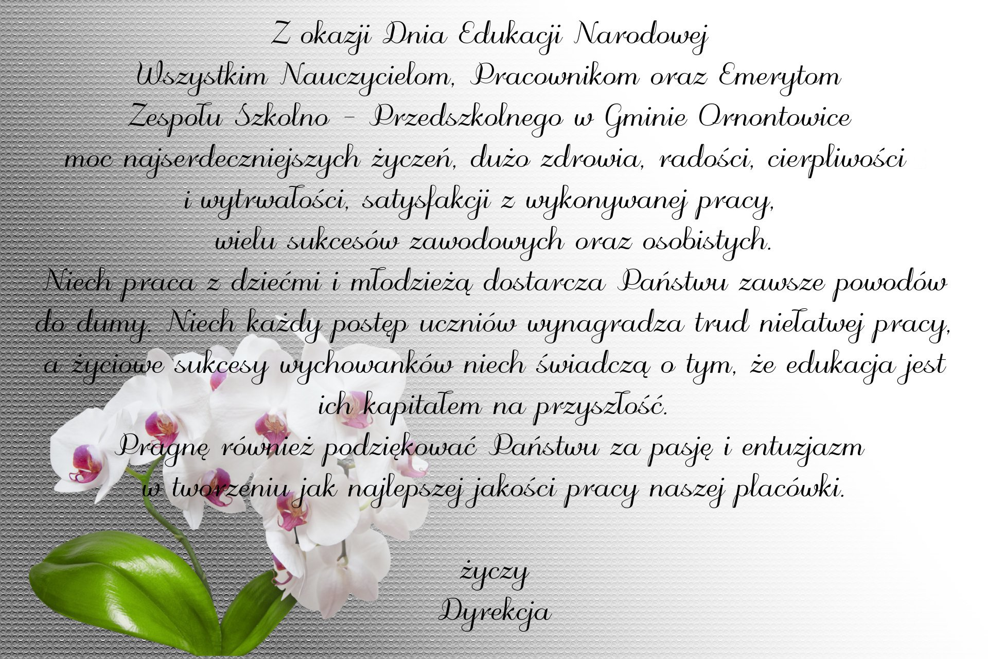 Życzenia z okazji Dnia Edukacji Narodowej