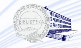 Logo Biblioteki Szkolnej z odnośnikiem do strony http://www.spmiarka.edu.pl/biblioteka