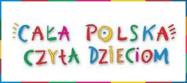 Logo Cała Polska czyta dzieciom z odnośnikiem do strony https://calapolskaczytadzieciom.pl/