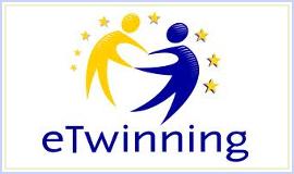 Logo e-twinning z odnośnikiem do strony https://etwinning.pl/