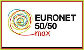Logo Euronet 50/50 z odnośnikiem do strony http://www.euronet50-50max.eu/pl/