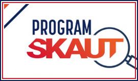 Logo programu Skaut z odnośnikiem do strony https://bip.msit.gov.pl/bip/finansowanie-zadan/sport-powszechny/2019-rok/2627,Program-quotSKAUTquot.html