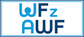 Logo WF z AWF z odnośnikiem do strony https://www.wfzawf.pl/